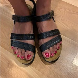 Naot sandals black leather size 44/13